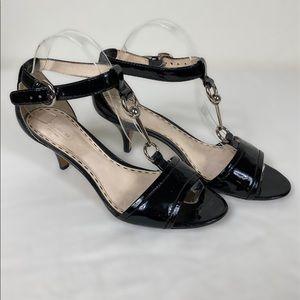 Coach 8.5B black patent leather Kitten heel